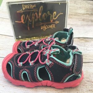 2/$8. Child of Mine water shoes. Size 4 blue/pink